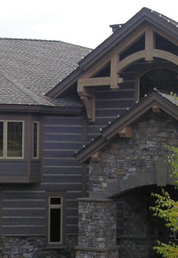 Douglas Fir siding and beams