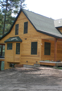 Douglas Fir wood cabin