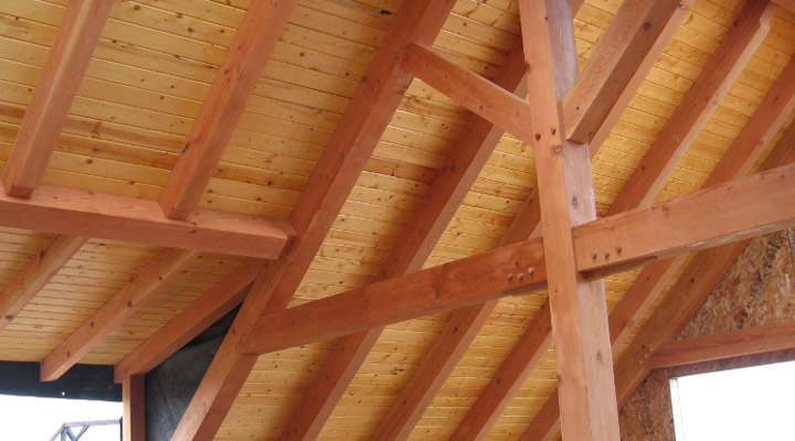 Douglas Fir wooden beams
